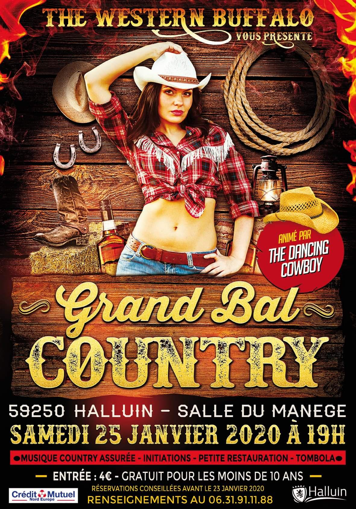 Affiche du bal country